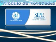SIPE - Módulo de Novedades - Caja del Seguro Social