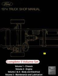 DEMO - 1974 Ford Truck Shop Manual - ForelPublishing.com