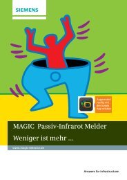 MAGIC Passiv-Infrarot Melder - Security Products Deutschland