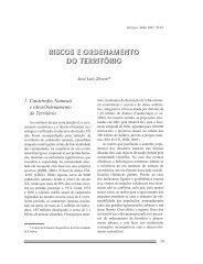 RISCOS E ORDENAMENTO DO TERRITÓRIO