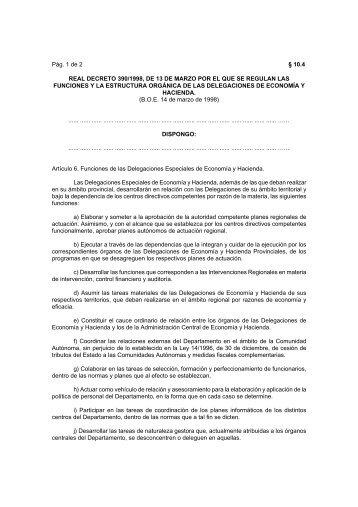real decreto 390/1998, de 13 de marzo por el que se ... - Catastro