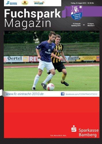 Fuchspark Magazin - FC Eintracht Bamberg 2010 eV