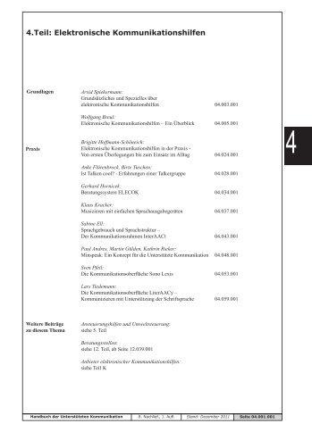 4.Teil: Elektronische Kommunikationshilfen