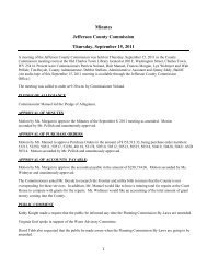 Minutes Jefferson County Commission Thursday, September 15, 2011