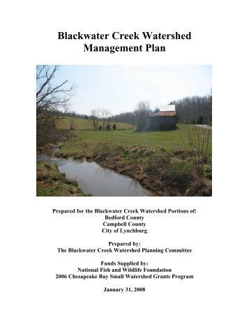 Blackwater Creek Watershed Management Plan - Lynchburg College