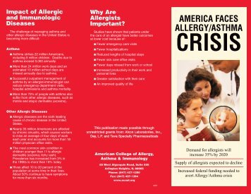 America Faces Allergy/Asthma Crisis-The Brochure - American ...
