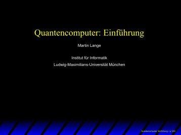 Quantencomputer: Einführung
