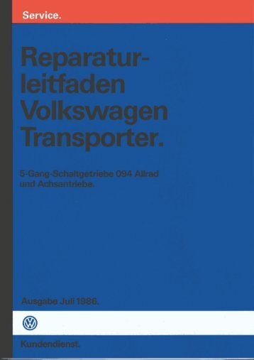 5 Gang Allrad und Achsantriebe - VW-BUS.ru