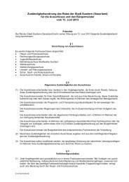 Zuständigkeitsordnung des Rates der Stadt Sundern (Sauerland) für ...