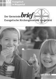 wermann wärmetechnik - Evangelische Kirchengemeinde Langerfeld