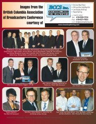 Images from the British Columbia Association of Broadcasters ...