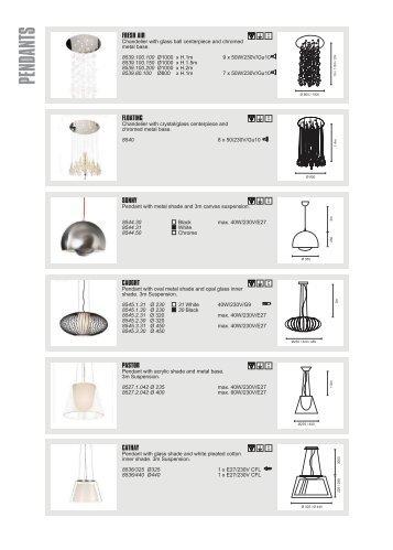 CATALOGUE INDEX PAGE.FH11 - Spazio Lighting