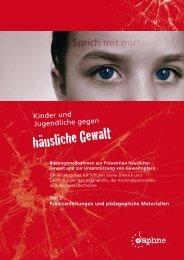 Kinder und Jugendliche gegen häusliche Gewalt