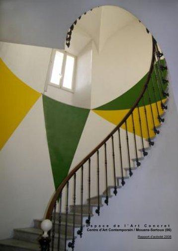 Rapport d'activité - L'espace de l'art concret