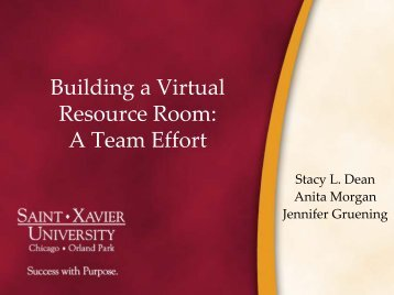 Building a Virtual Resource Room
