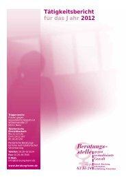 Tätigkeitsbericht für das Jahr 2012 - Beratungsstelle gegen ...