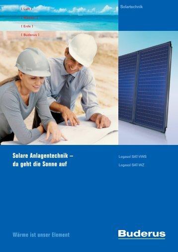 Solare Anlagentechnik – da geht die Sonne auf - Buderus