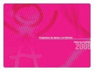 Programas de Apoyo a la Infancia - Carrefour