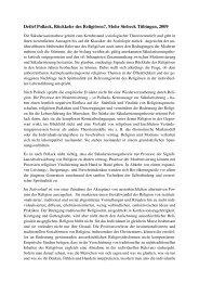 Detlef Pollack, Rückkehr des Religiösen?, Mohr Siebeck Tübingen ...