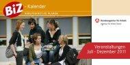 Veranstaltungen Juli - Dezember 2011 - Kulturweit