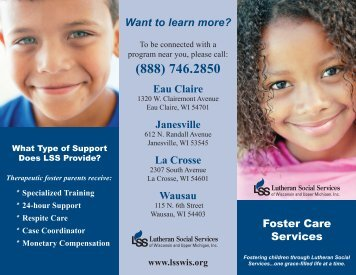 Foster Care Brochure - Lutheran Social Services of Wisconsin and ...