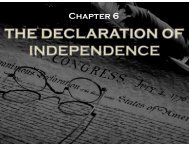 Chapter 6 - The Declaration of Independence