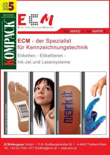 ECM - der Spezialist für Kennzeichnungstechnik ECM ... - Kompack