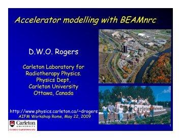 Accelerator modelling with BEAMnrc (pdf) - Carleton University
