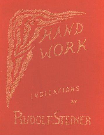 Handwork and Handicrafts - Waldorf Research Institute