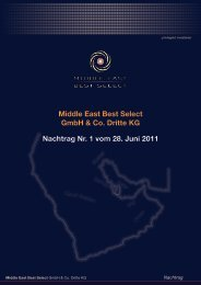 Middle East Best Select GmbH & Co. Dritte KG ... - MEBS GmbH