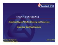 Green financial products - UNEP Finance Initiative
