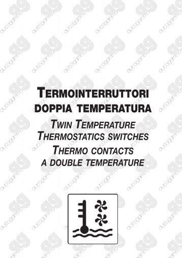 Termointerruttori doppia temperatura - Michele Caroli Srl