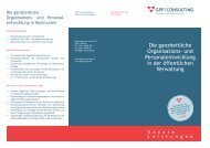 Die ganzheitliche Organisations- und Personalentwicklung in der ...