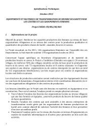 Technical specifications for purchase of equipment and ... - unido
