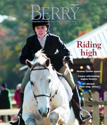 ERRY – A Magazine For Alumni And Friends Of - Berry College