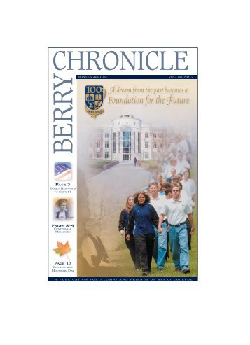 Chronicle Winter 01-02 for Web - Berry College