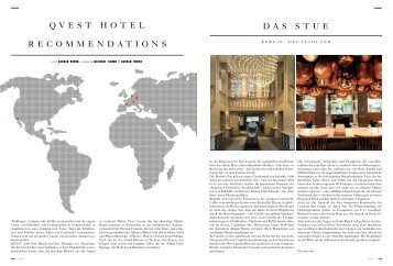 Recommendations (ENG) - 25hours Hotels