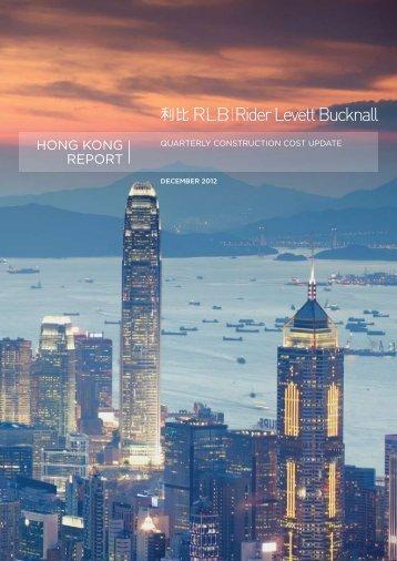 hong kong REPoRT - Rider Levett Bucknall