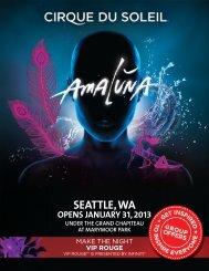 SEATTLE, WA - Cirque du Soleil