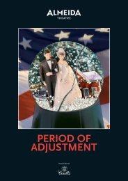 Period of Adjustment Programme (pdf) - Almeida Theatre