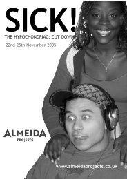 SICK! - Almeida Theatre