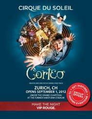 ZURICH, CH - Cirque du Soleil