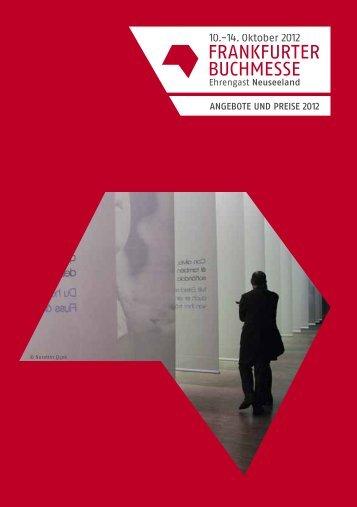 Angebote und Preise 2012 944 KB - Frankfurter Buchmesse
