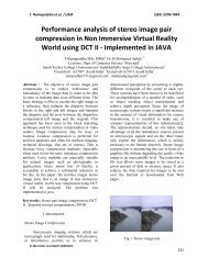 Performance analysis of stereo image pair compression in Non ... - ijair