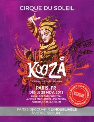 PARIS, FR - Cirque du Soleil