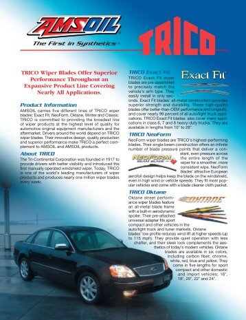 TRICO Wiper Blades Offer Superior Performance ... - Synpsg