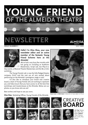 NEWSLETTER - Almeida Theatre