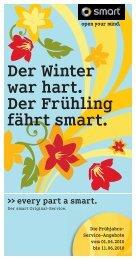 Der Winter war hart. Der Frühling fährt smart. - Autohaus Pickel