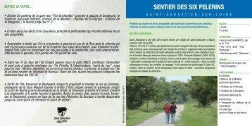 sentier des siX PeLerins - Ville de Saint-Sébastien-sur-Loire
