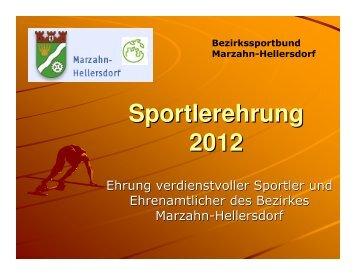 Sportlerehrung 2012 - SportOn.de